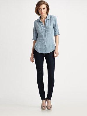 Pieced Linen Shirt