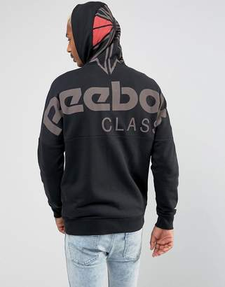 Reebok Full Zip Hoodie In Black Bq3367