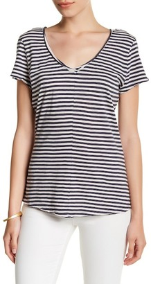 14th & Union Striped V-Neck Tee (Petite) $12.97 thestylecure.com