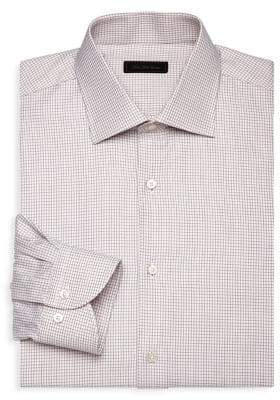 Saks Fifth Avenue COLLECTION Check Cotton Dress Shirt