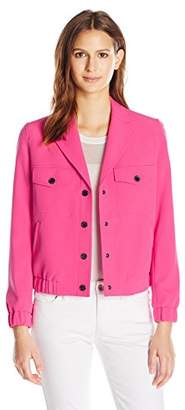 Anne Klein Women's Eisenhower Jacket Snaps