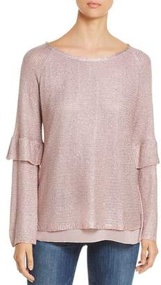 Sioni Sequined Tiered-Sleeve Sweater