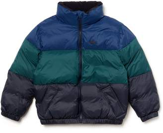 Lacoste Boys' Invisible Hood Quilted Jacket
