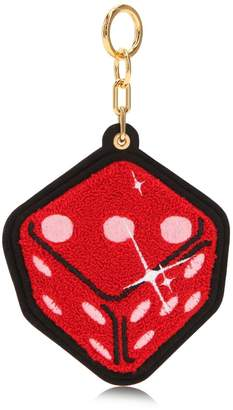 Red Dice Chenille Keychain
