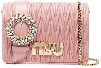 Miu Miu Pink Matelassé leather cross body bag