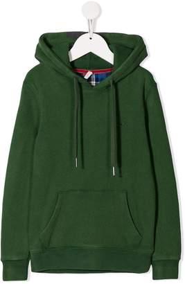 Sun 68 kangaroo pocket drawstring hoodie