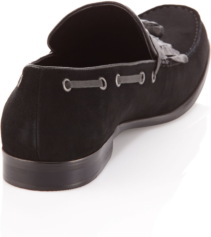 Kenneth Cole Wake-Up Call Kiltie Loafer, Black