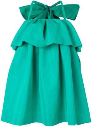 MSGM giant bow ruffle dress