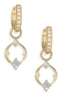 Jude Frances Small 18K Gold& Diamond Open Moroccan Quad Circle Earring Charms