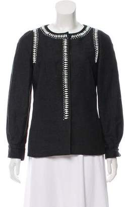 Emilio Pucci Embellished Long Sleeve Blazer