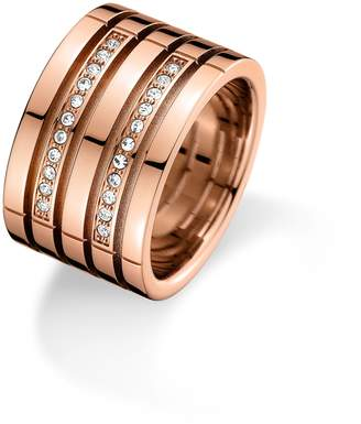 Tommy Hilfiger Rose Gold Crystal Ring