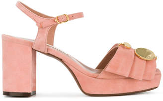 L'Autre Chose folded detail sandals