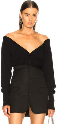 Alexander Wang Fitted Cropped Cardigan