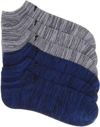 adidas Blue Stripe No Show Socks - 6 Pack - Men's