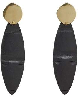 MANGO Wood earrings