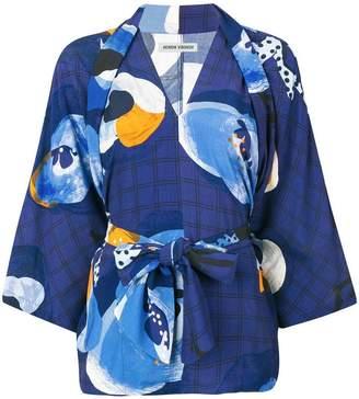 Henrik Vibskov Lemon printed tie waist blouse