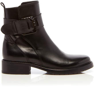 Lanvin Square Buckle Ankle Boot