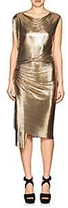 Paco Rabanne Women's Metal Mesh Shift Dress - Gold