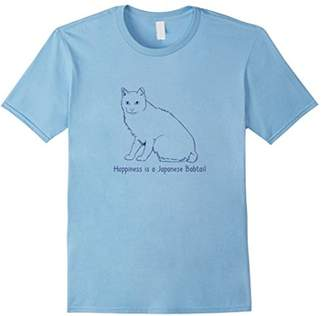 Breed Happiness Is A Japanese Bobtail | Cat Lover T-shirt