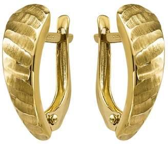 14K Gold Hinged Demi Hoop Earrings