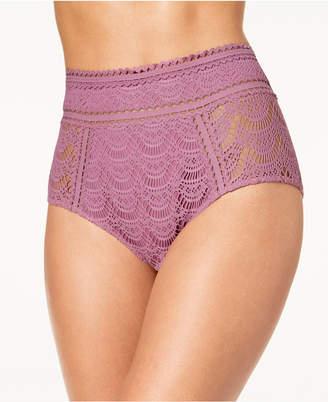 Becca Color Play Crochet High-Waist Bikini Bottoms Women's Swimsuit