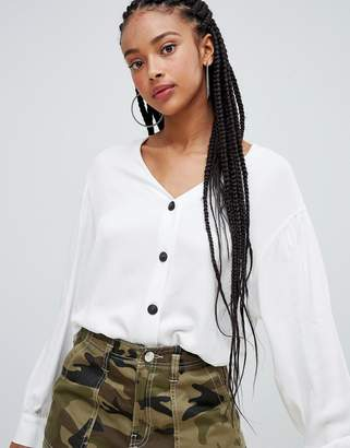 Bershka button front blouse