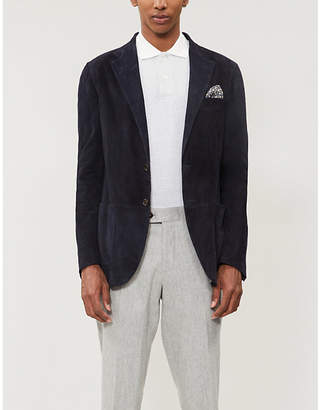 Eleventy Contrast-trim cotton-jersey polo shirt