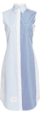 Thom Browne Pinstripe Cotton Shirt Dress