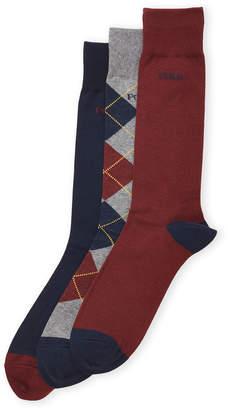 U.S. Polo Assn. 3-Pack Argyle Socks