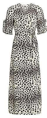 Sea Women's Leo Animal Wrap Midi Dress - Size 0