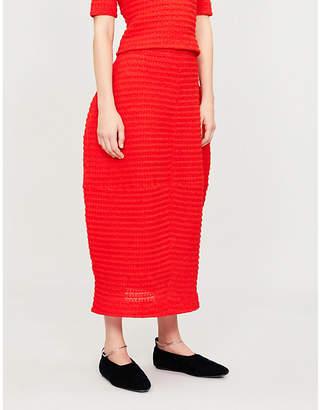 Jil Sander Textured knitted skirt