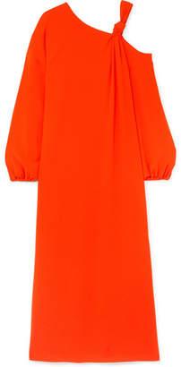 Elizabeth and James Shontae Cold-shoulder Crepe Maxi Dress - Orange