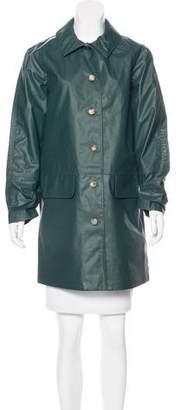 Trademark Water Resistant Knee-Length Coat