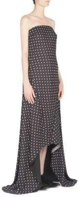 Haider Ackermann Strapless Polka-Dot Gown
