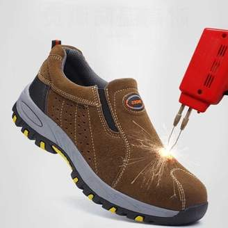 Kadell Meigar Steel Toe Shoes Men Safety Work Reflective Strip Puncture Proof Footwear Industrial & Construction Shoes