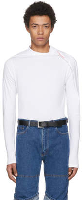 Y/Project White Long Sleeve Deconstructed T-Shirt