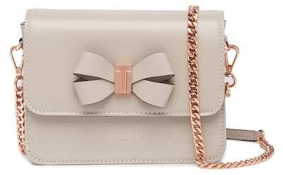6e53fdd8f571 Callih Bow Detail Leather Crossbody Bag. by