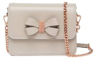 Ted Baker Callih Bow Detail Leather Crossbody Bag