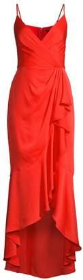 BCBGMAXAZRIA Wrap Ruffle Midi Dress