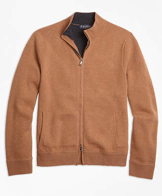 Brooks Brothers Wool and Cashmere Full-Zip Sweater