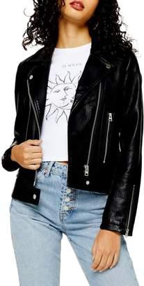 Topshop Teddy Biker Jacket