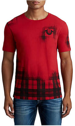 True Religion MENS FADE PLAID LOGO TEE