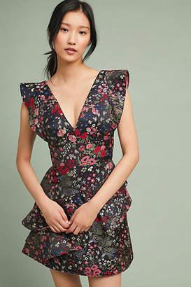 ML Monique Lhuillier Casetta Floral Dress