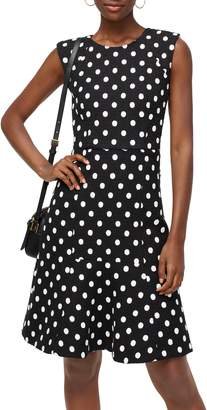 J.Crew Polka Dot Embroidered Tweed A-Line Dress