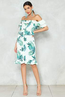 Nasty Gal Who Says You Plant Have It All Midi Dress
