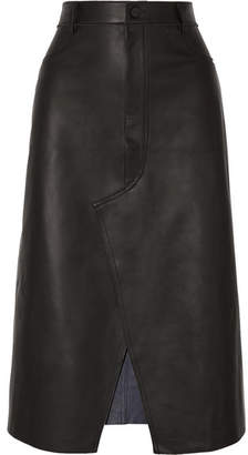 Dion Lee Leather Midi Skirt - Black