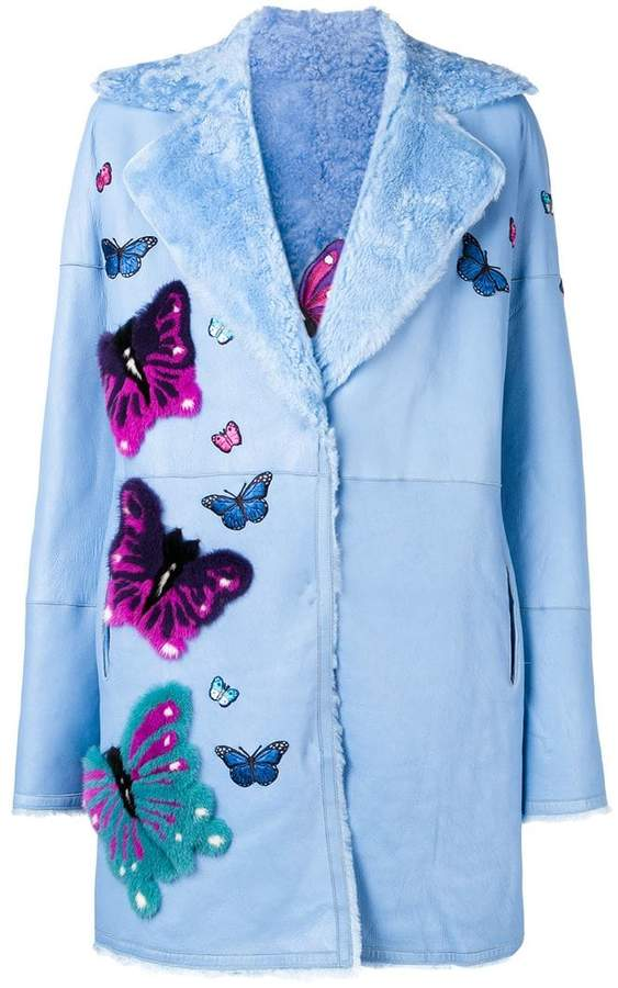 Liska butterfly patch coat