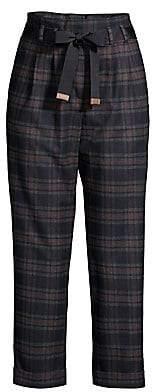 Peserico Women's Plaid Flannel Pants