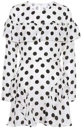 LPA Polka-dot silk minidress