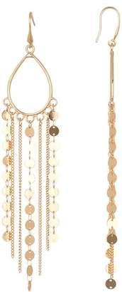 Leslie Danzis Disk Chain Hoop Earrings